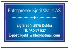 Entreprenør Kjetil Walle